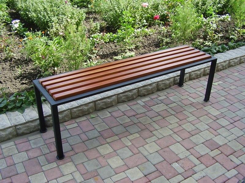 Скамейка для дачи из металла фото 4