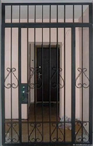 дверь стальная тамбурная решетки