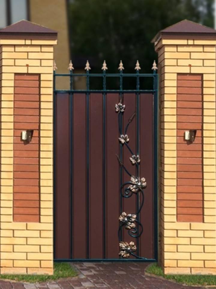 Ворота распашные установка своими руками 18